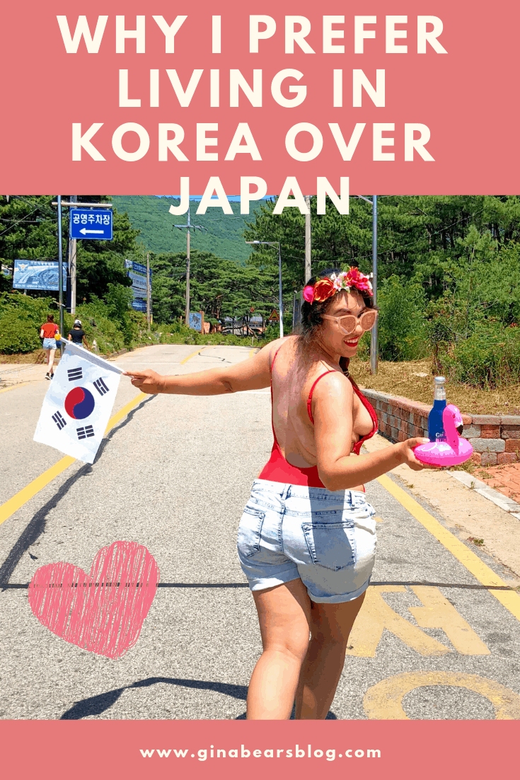 Why I Prefer Living in Korea over Japan - Gina Bear's Blog